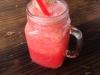 Frischer Wassermelonensaft. Alle Säfte auf Bali sind frisch gepresst. Lecker!