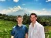 Gerrit und ich vor dem Vulkan Mt. Batur