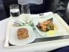 Vorspeise: Garnelencocktail mit Zitronengras, Sesam, Limone und Koriandercreme