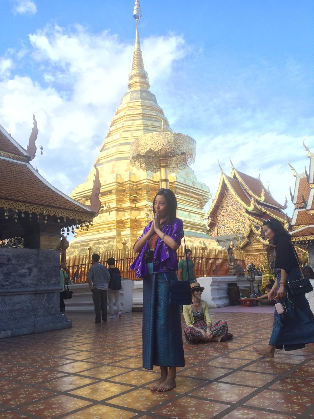 Wat Phrathat Doi Suthep Tempel in den Bergen