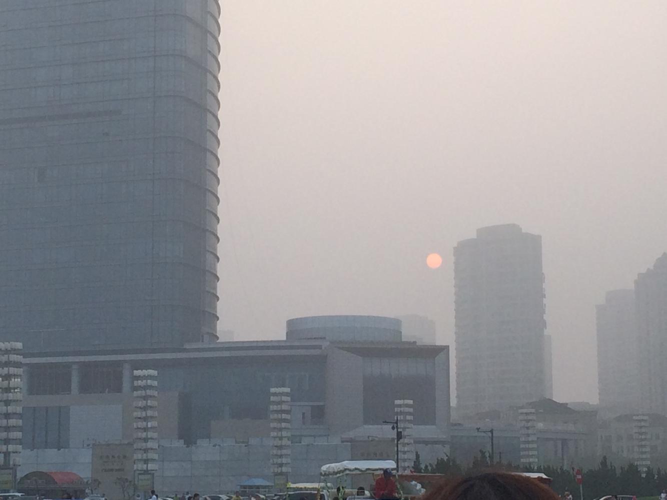 Luftverschmutzung. Nein, das ist nicht der Mond.