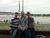 Martin, Gerrit und Daniel am Rhein