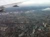Blick auf Frankfurt im Sinkflug
