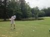 Beim richtigen Abschlag auf dem Golfplatz