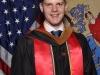 """Das offizielle Bild: Das rot steht für \""""Rutgers\"""", das braun für \""""Business\"""" und das blau/gelb für \""""Honors\"""""""