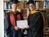 Roadtrip- und Fulbright-Kollege Joachim mit Computer Sciences (= gelb) Abschluss