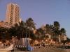 Blick auf Waikiki vom Strand