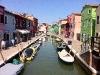 Die Insel Burano mit ihren berühmten bunten Häusern
