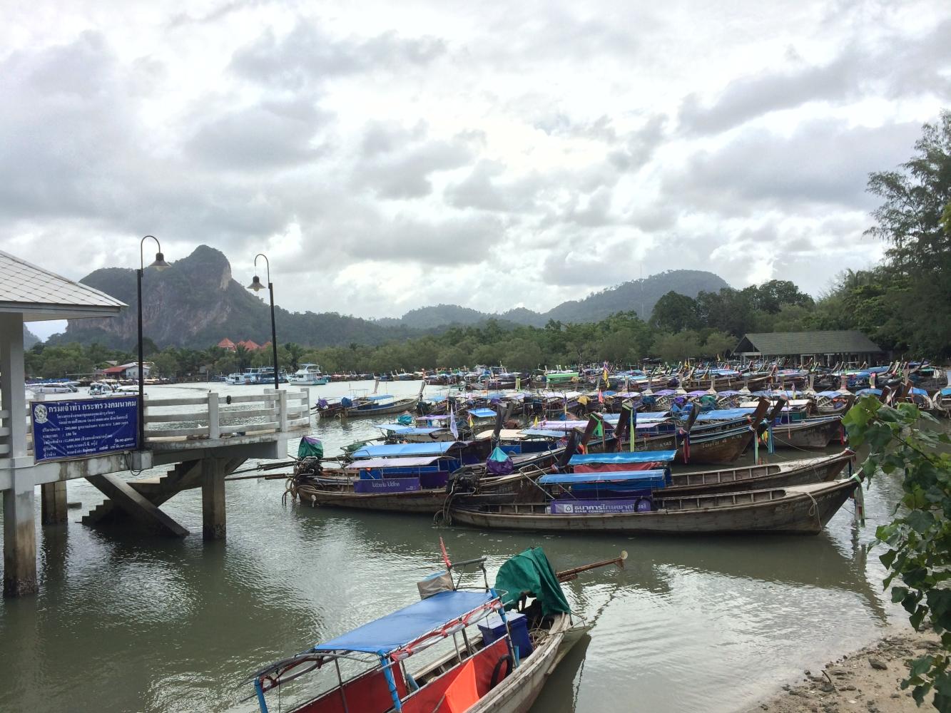 Am nächsten Tag an den Hafen, um eine halbtägige Bootstour anzutreten