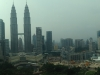 Blick auf die Petronas Towers von unserem Hotel bei Tag