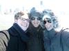 Bootstour um Lower Manhattan: Joachim, ich und Laura in der eisigen Kälte