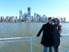 Joachim und Laura vor Downtown und dem neuen World Trade Center