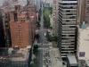 Blick von der Seilbahn auf First Avenue