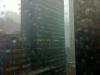 Blick aus dem Bürofenster: Regen Regen Regen