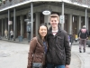 Mandy und ich am Jackson Square