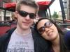 Mandy und ich im Sightseeing-Bus