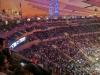 Ganz schön hoch oben. Links ist die TV-Zentrale des Stadions zu sehen