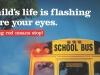Punkt 24 - Wenn die roten Lichter blinken müssen alle anhalten. Auch auf der gegenüberliegenden Straßenseite