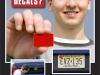 Punkt  8 - Roter Nummernschildaufkleber für junge Fahrer