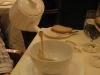Soupe Marronnier (frisch ausgeschenkte Kastaniensuppe)