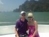 Mandy und ich kurz vor unserer ersten Kayak-Tour in Phuket