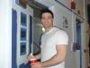 Ein weiterer Fulbrighter grundiert eine Tür