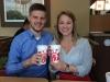 Eine Kollegin und ich in einem meiner Lieblings-Fastfoodläden: Chick-Fil-A