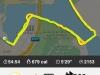 Die Strecke und Statistiken im GPS-Tracker