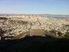 """Blick von \""""Twin Peaks\"""" auf Downtown San Francisco"""