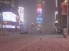 Seltener Anblick: Menschenleerer Times Square