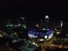 Blick vom Hotelzimmer: Singapur bei Nacht