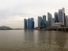 Blick vom Central Business District: Singapur bei Tag