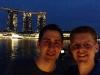 Gerrit und ich vor dem Marina Bay Sands