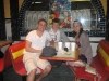"""Hernan, Martin und Mandy nach einem kubanischen Essen im \""""El Pub\"""""""