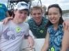 Martin, Hernan und Mandy im Airboat
