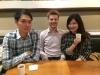 Wiedersehen zweier Kommilitonen: Huan-Yu und Ya-Fan
