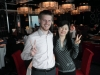 Meine Arbeitskollegin und ich im Restaurant