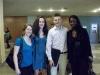Lena, Gergana, ich, Yolande (eine der Organisatoren des Events)