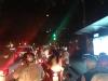 Verkehr auf dem Weg vom Flughafen in die Stadt