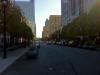 Blick durch Downtown Raleigh. Am Ende der Straße das North Carolina Theatre