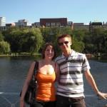 Lena und ich im Boston Common Park