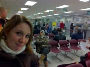 Lena angepisst beim DMV