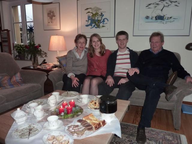 Mit der Familie an Heiligabend